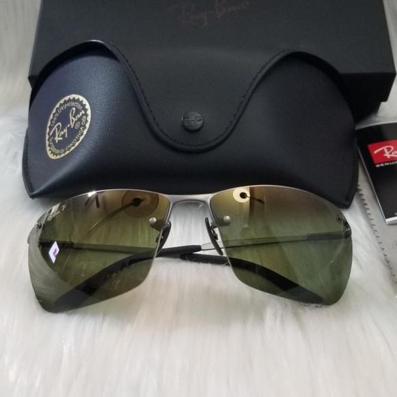 cd6dc509d54 Ray Ban Polarized Mirror Sports Sunglasses Green